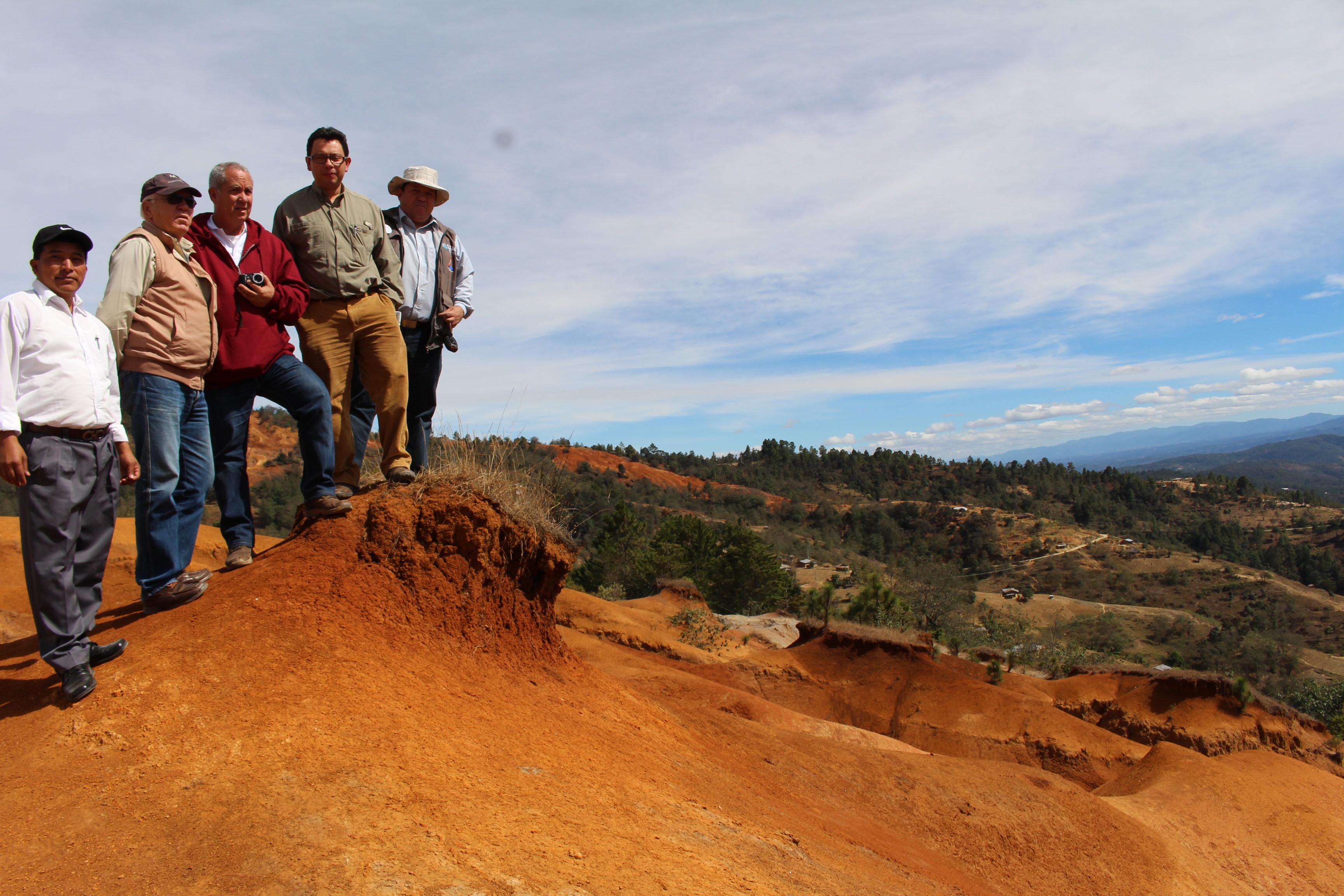 Erosión de tierra en Santa Bárbara, Huehuetenango